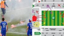 Řádění chorvatských fanoušků: předem promyšlená akce s místem i časem!