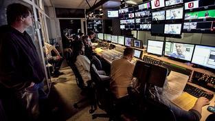 Newsroom České televize. Ilustrační snímek