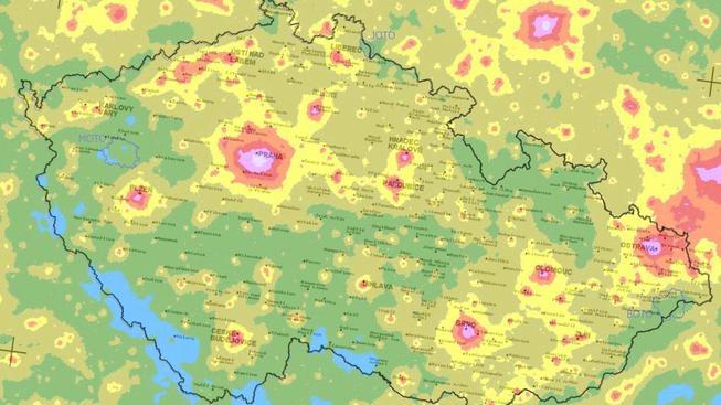 svetelna mapa