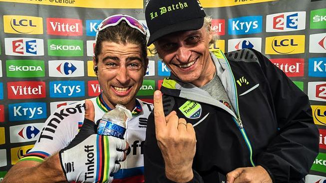 Sagan s majitelem stáje Olegem Tiňkovem