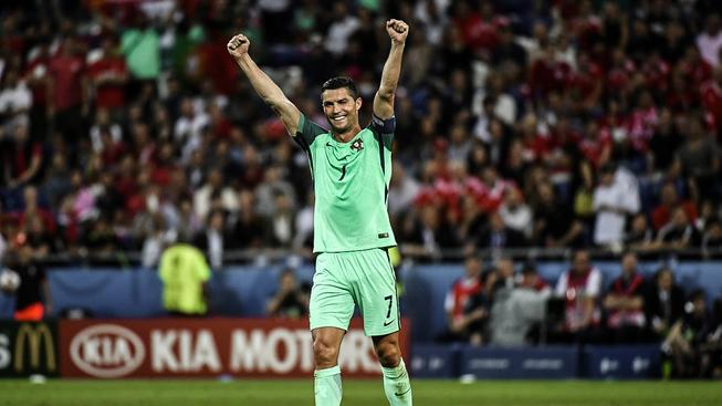 Vítězné gesto Cristiana Ronalda