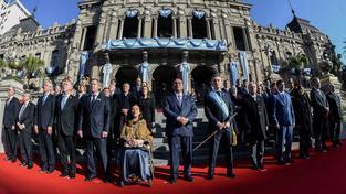 Macri s vládou během oslav