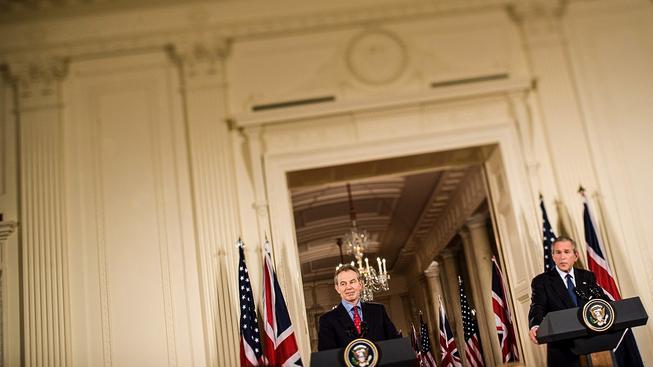 Stará dobrá dvojka Blair a Bush v roce 2006