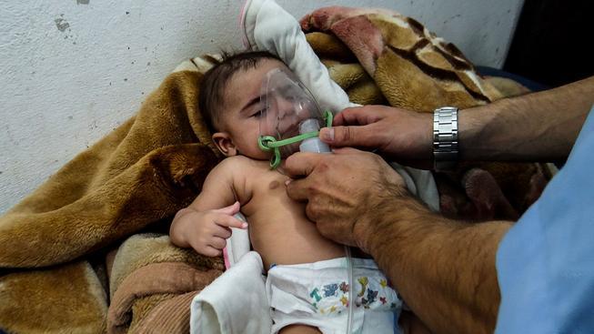 Děti a ženy byly hlavními obětmi chemického útoku ve městě Sarákib