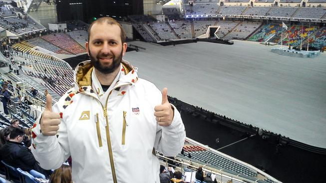 Oldřich Chocholáč na olympiádě v Soči