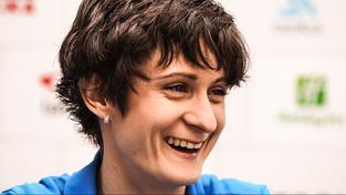 Martina Sáblíková se po slyšení u tribunálu usmívala