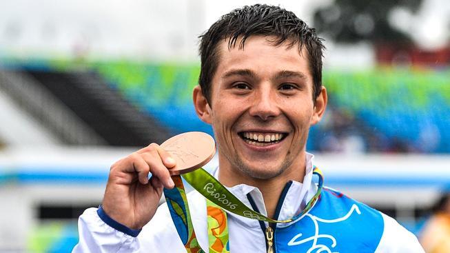 Jiří Prskavec s bronzovou olympijskou medailí