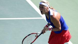 Petra Kvitová ukázala v zápase s Američankou Madison Keysovou bojovné srdce