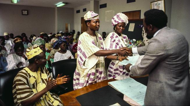 Svatbu před oficiálními úřady má jen zlomek Nigerijců, proto je počet rozvodů oficiálně tak malý