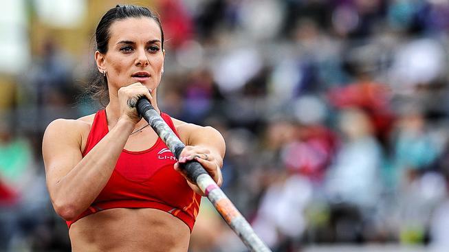 Isinbajevová má ve sbírce celkem 13 zlatých medailí z olympijských her, mistrovství světa a evropských šampionátů