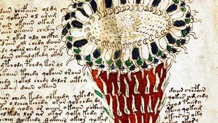 Jedna ze stránek Voynichůva rukopisu pojmenovaného po obchodníkovi, který knihu získal v roce 1912