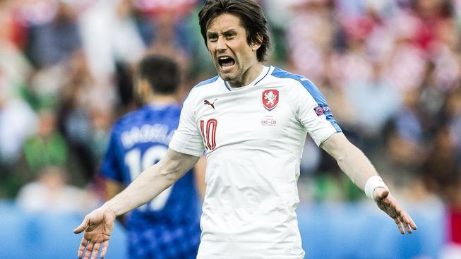 Poslední zápas odehrál Tomáš Rosický proti Chorvatsku na ME ve Francii