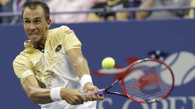 Český tenista Lukáš Rosol nestačil v prvním kole na olympijského vítěze Brita Andyho Murrayho