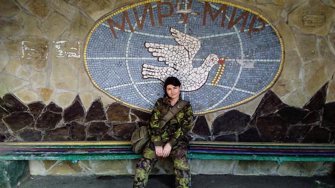 Nela Lisková, která se sama prohlašuje honorární konzulkou, navštívila Doněck několikrát