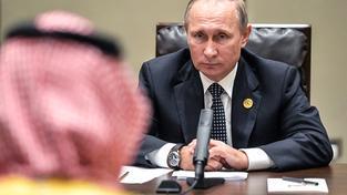 Putin se saúdským princem Mohamedem bin Salmánem na summitu G20 v Číně