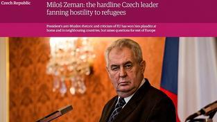Zeman v prominentním britském listu The Guardian