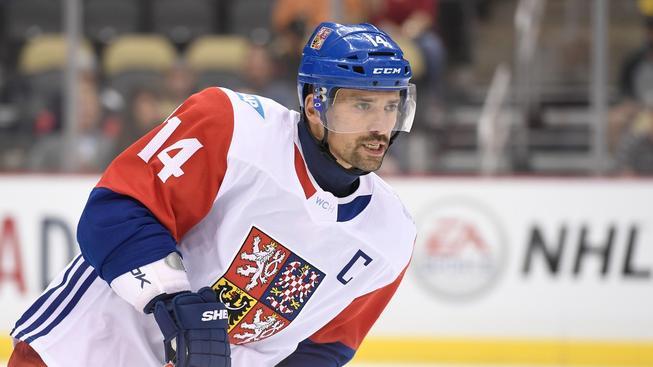 Kapitán českých hokejistů Tomáš Plekanec během přípravy na Světový pohár