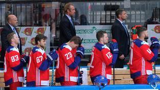Lavička českého týmu během přípravy na Světový pohár