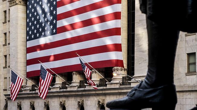 Sídlo americké burzy NYSE na Wall Street