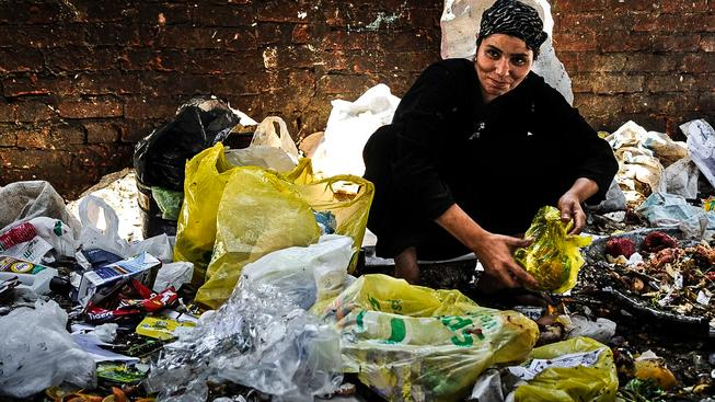 """Život v koptském """"Městě odpadků"""" v Káhiře"""