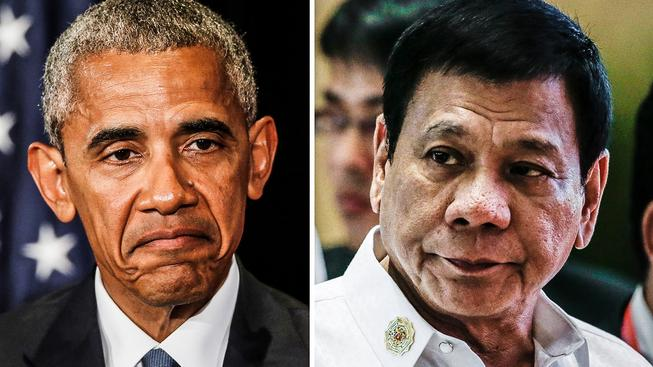 Barack Obama a Rodrigo Duterte