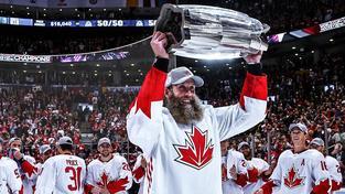 Kanaďané oslavující vítězství