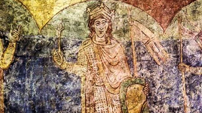 Vyobrazení Vratislava II. ve znojemské rotundě