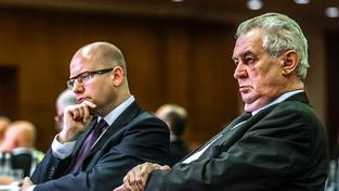 Bohuslav Sobotka neprozradil jména ministrů, které by chtěl vyměnit, ani po schůzce s prezidentem