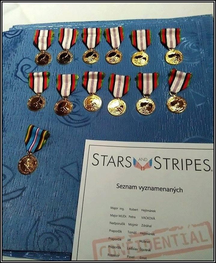 Medaile a seznam vyznamenaných