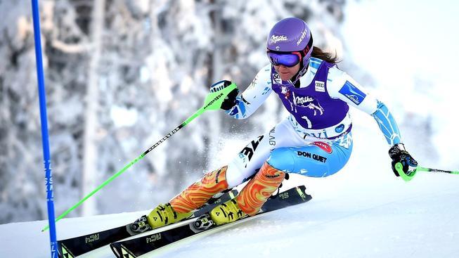 Šárka Strachová v úvodním slalomu Světového poháru ve finském Levi