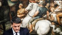 Italský premiér si s pláčem balí kufry. Vratký domek z karet se zbortil
