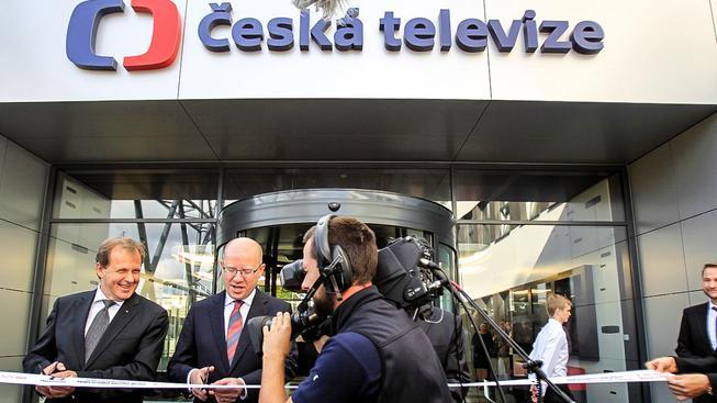 Dvořák a Sobotka otevírají nové studio ČT. Ilustrační snímek