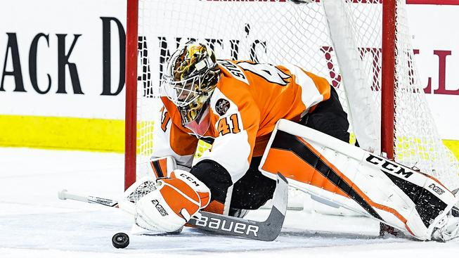 V bráně Flyers se blýsknul Anthony Stolarz, který hrál teprve druhý zápas v NHL