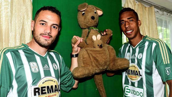 Jhon Mosquera (vpravo) a Rafael Acosta