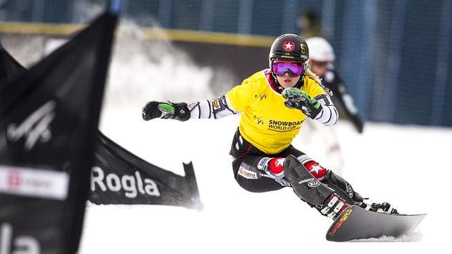 Ester Ledecká dojela na úvodním závodu Světového poháru v paralelním obřím slalomu v italské Carezze