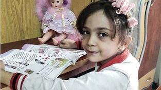 Sedmiletý syrská dívenka z východního Aleppa Bana Alabedová
