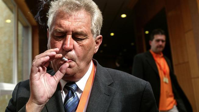 Miloš Zeman na stranickém sjezdu ČSSD před deseti lety