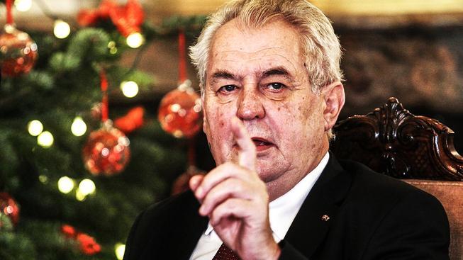 Prezident Miloš Zeman během vánočního projevu před dvěma lety