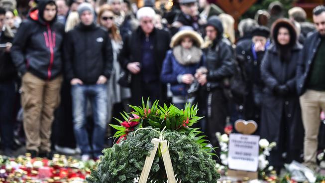 Pieta na místě tragédie v Berlíně