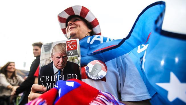 Čekání na děkovný projev Trumpa v Alabamě
