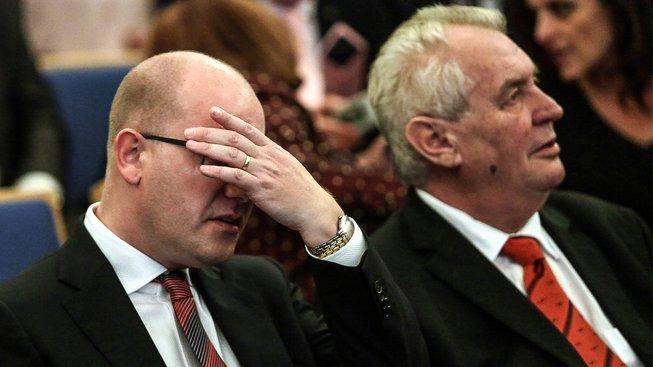 Bohuslav Sobotka a Miloš Zeman