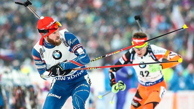 Michal Šlesingr (vlevo) dojel v Oberhofu druhý