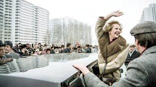 Margaret Thatcherová na návštěvě v Moskvě