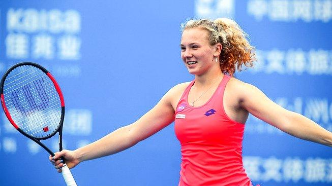 Kateřina Siniaková slaví svůj premiérový triumf na okruhu WTA ve dvouhře