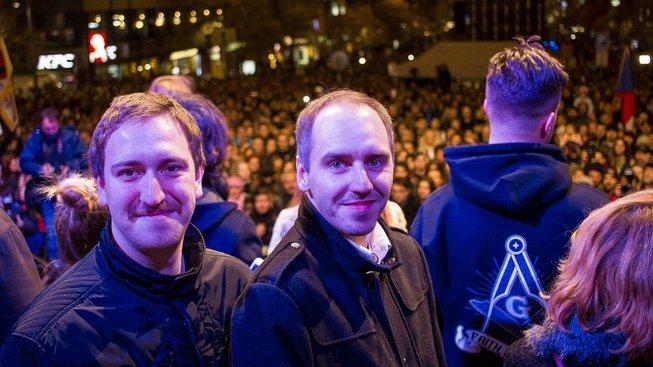 Jakub Pitron (vpravo) a Robert Pecka (vlevo). Autor snímku Tomáš Kozel