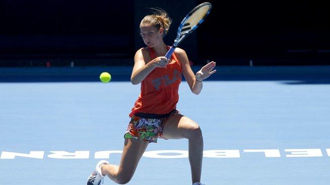 Česká tenistka Karolína Plíšková patří na Australian Open mezi nejvtěší favoritky na titul