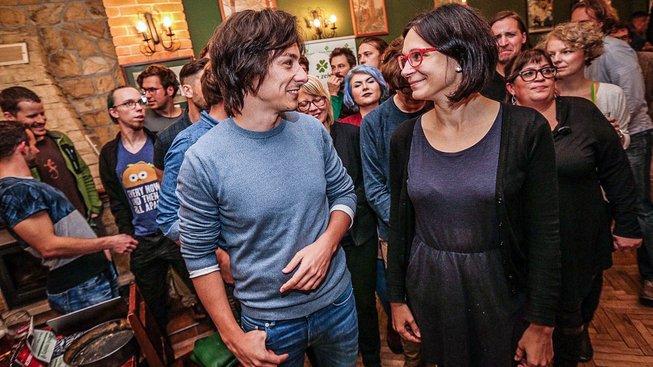 Předseda zelených Matěj Stropnický a Monika Horáková, členka předsednictva
