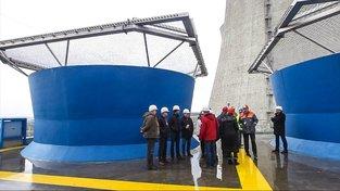 Představení nových chladících věží v Jaderné elektrárně Dukovany v březnu 2016