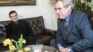 David Rath a Miloš Zeman v roce 2000