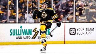 Pastrňák letos nastřílel 22 gólů a v tabulce kanonýrů NHL se drží na děleleném jedenáctém místě
